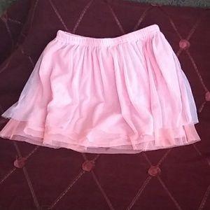 Chiffon light pink girl's skirt